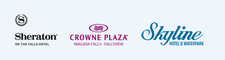 <p></noscript>Our Resort hosts 3 major hotels – the 669 Room 4 diamond Sheraton on the Falls Hotel & Conference Centre, the 234 Room Crowne Plaza Niagara Falls Fallsview, and the 206 Room Skyline Hotel & Waterpark</p>