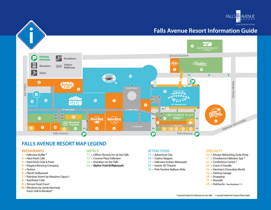 Niagara Falls Ontario Hotel Map